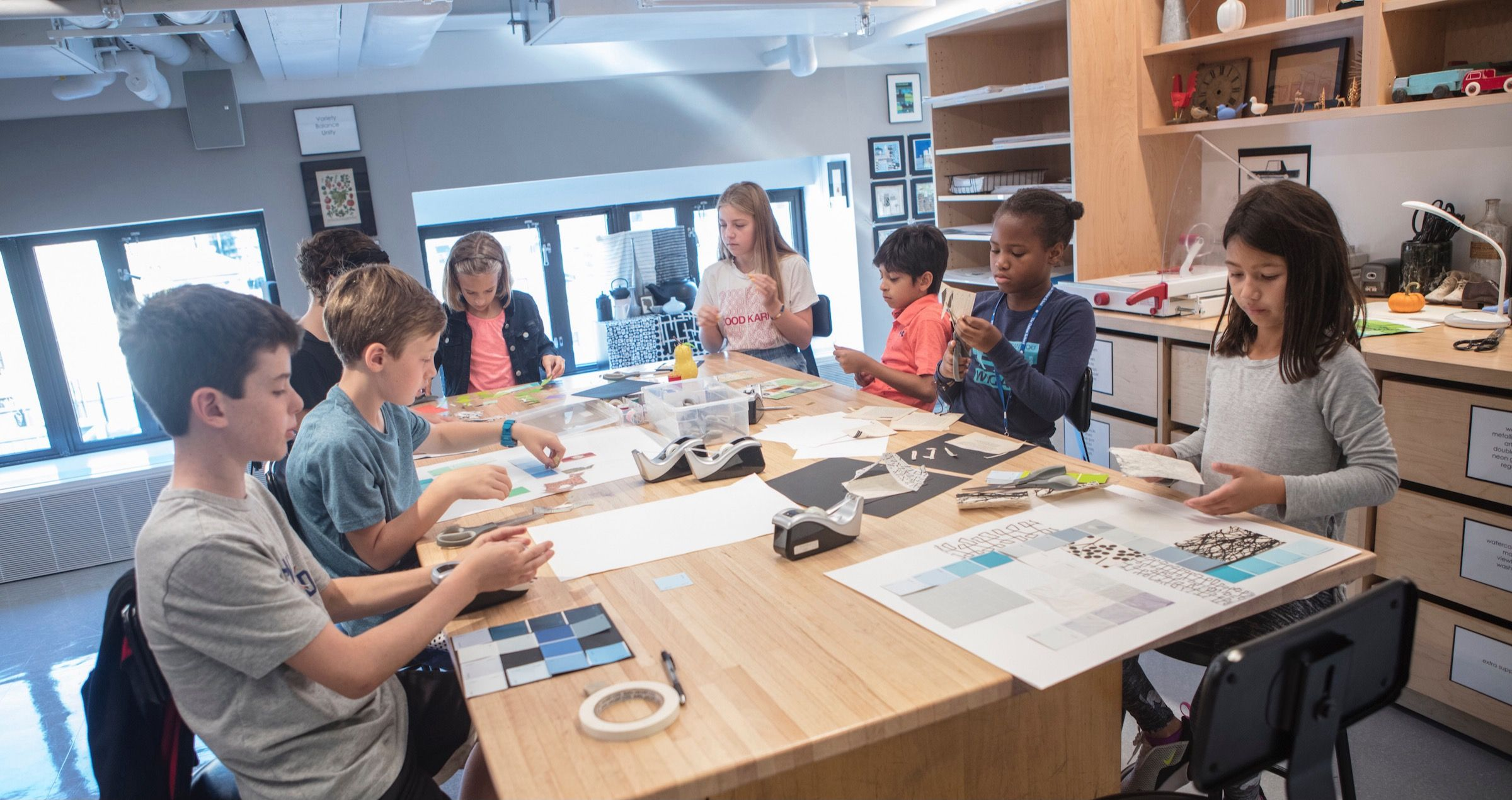 The K-12 art curriculum encourages inventive thinking, creative problem solving, and visual awareness, as well as intellectual, social and emotional development.