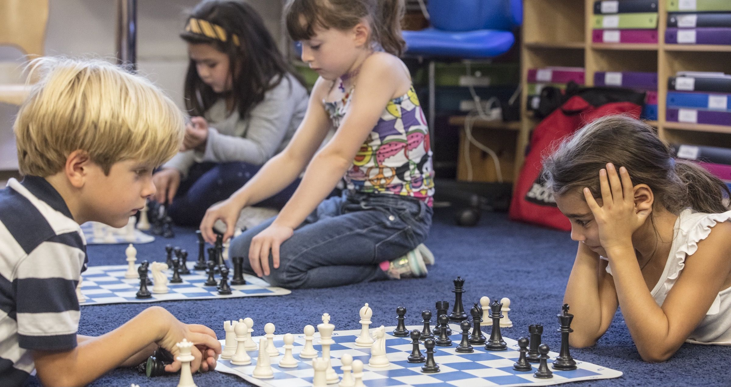 Our chess curriculum is integrated into Grades K-3 classes and features a world-class trophy-winning chess team after school.