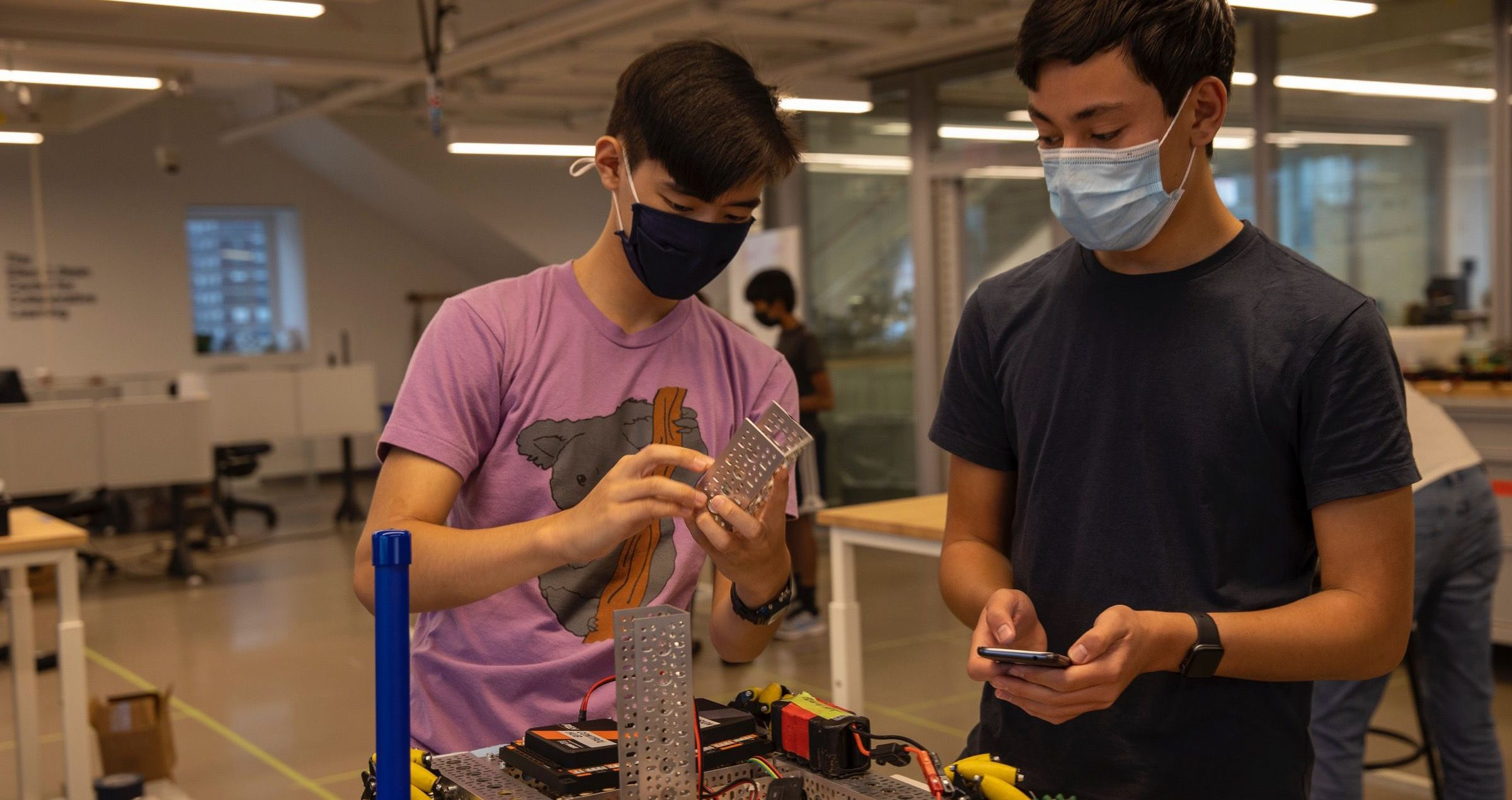 A new engineering and design center serves middle and high school makers and 6 robotics teams that compete locally, nationally, and internationally.