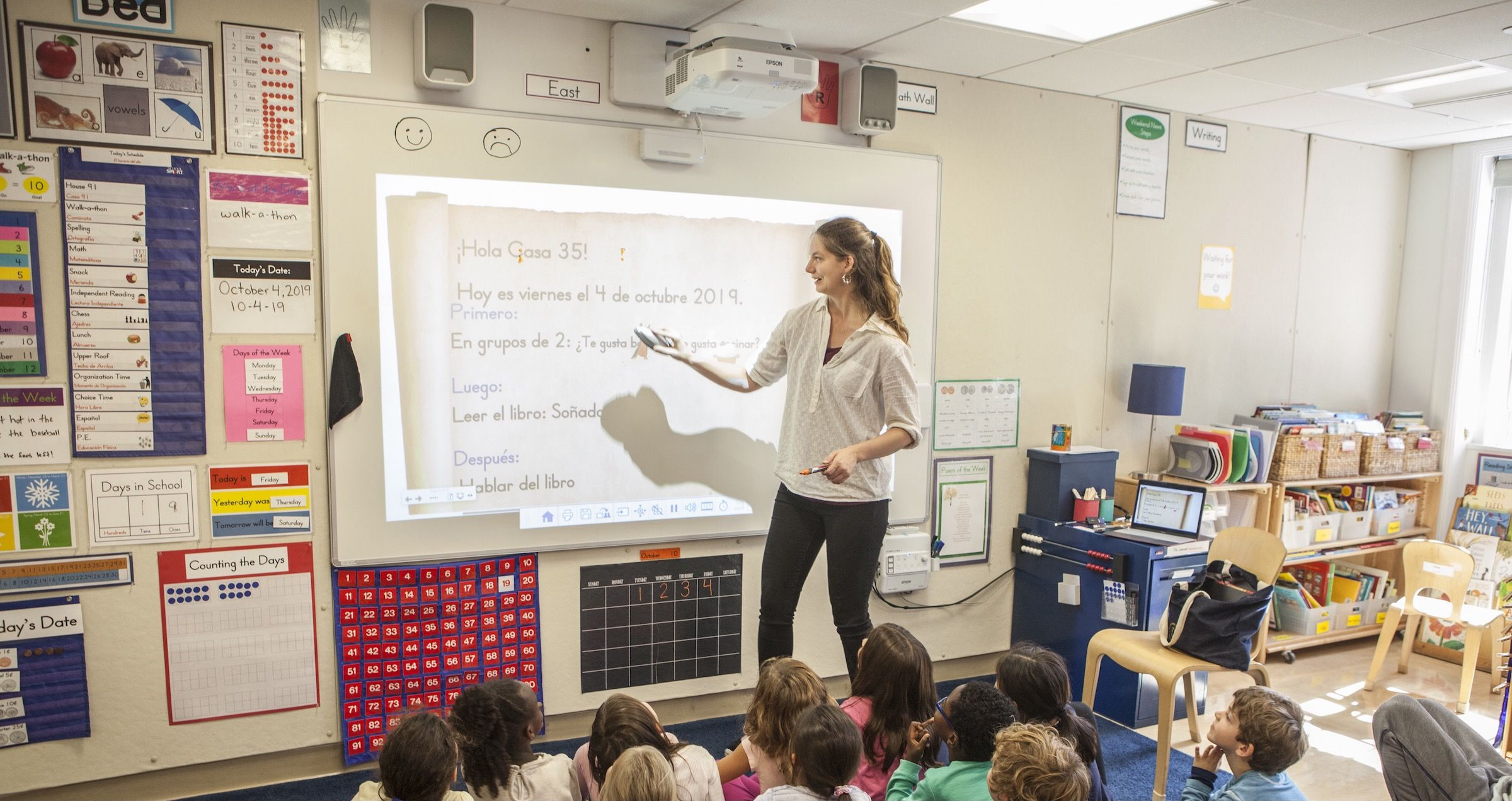 World and Classical Languages begin with Spanish in Kindergarten and continue with a broadening range of languages offered in the Middle and High Schools.