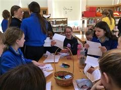 Our Pen Pals in Ireland, receiving their first letters from Baldwin.