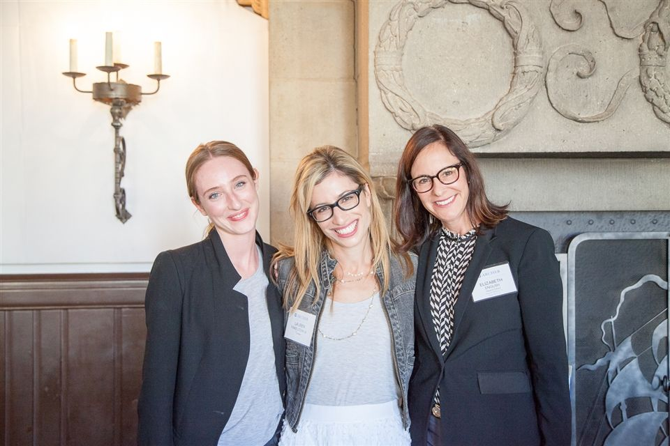 Alumnae Association Board co-chair Kate Webster '07, Lauren Finkelstein '01, and Elizabeth English