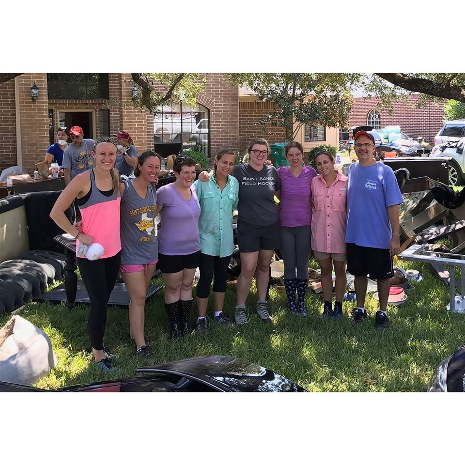 Some of our faculty helped a friend in need after their home flooded with several feet of water in their home. #TexasStrong #VeritasStrong
